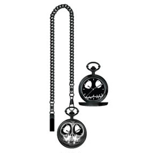 Nightmare Before Christmas Jack Skellington Skull Pocket Watch