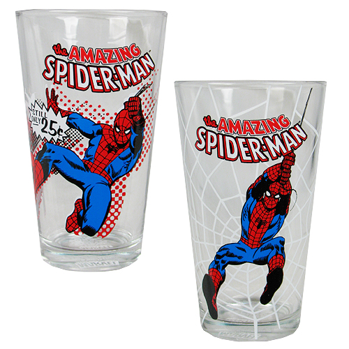 Spider-Man Action 16 oz. Pint Glass 2-Pack