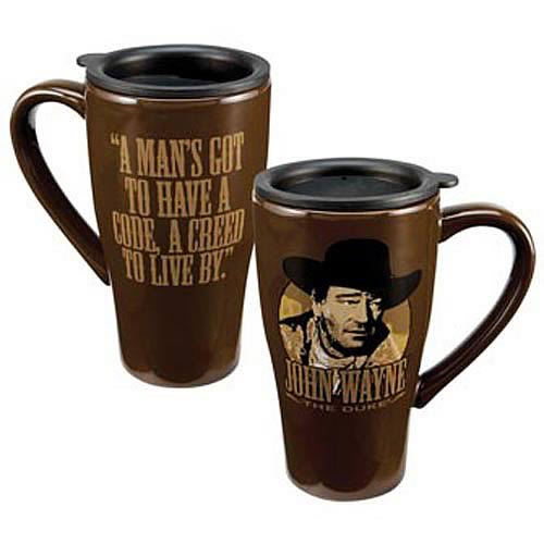 John Wayne A Creed To Live By Travel Mug