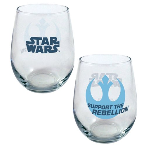 Star Wars Support the Rebellion 21 oz. Stemless Wine Glass