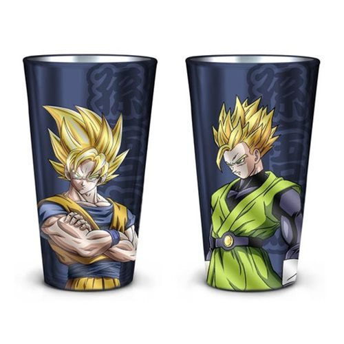 Dragon Ball Z Goku and Gohan Pint Glass 2-Pack