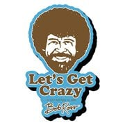 Bob Ross Crazy Funky Chunky Magnet