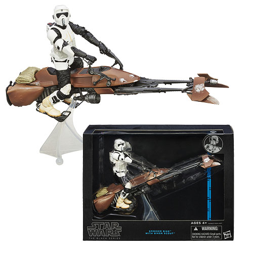 Star Wars The Black Series Scout Trooper  6-Inch Action Figure with Speeder Bike Vehicle