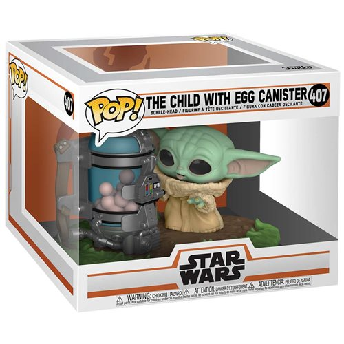 Star Wars: The Mandalorian The Child with Egg Canister Deluxe Pop Vinyl Figure