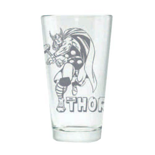 The Mighty Thor Hero Logo Etched Pint Glass