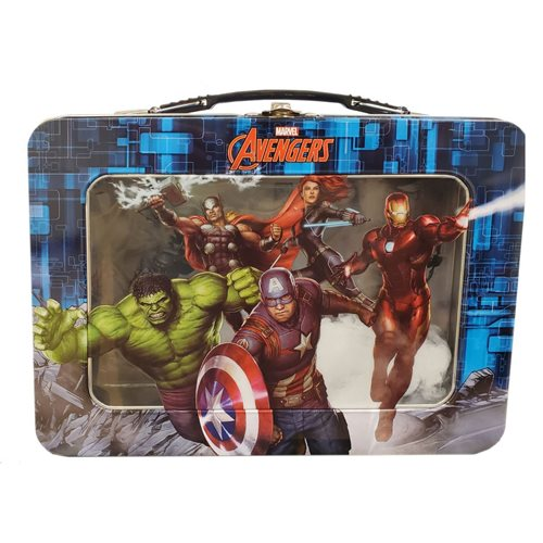 Avengers XL Tin Lunch Box with Window