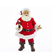 Coca-Cola Santa with LED Bottle 10 1/2-Inch Statue