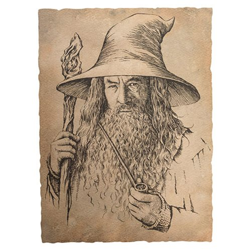 The Hobbit: An Expected Journey Gandalf the Grey Portrait Art Print