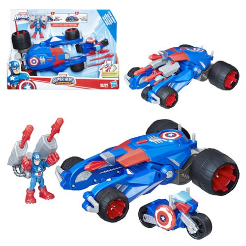 Marvel Super Hero Adventures Captain America's Victory Launcher Vehicle