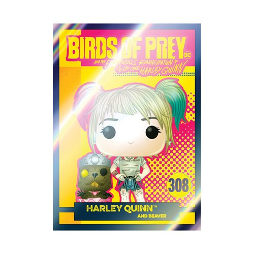Birds of Prey Harley Quinn with Beaver Pop! Vinyl Figure with Collectible Card - Entertainment Earth