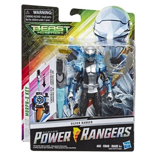 Power Rangers Beast Morphers Silver Ranger 6-Inch Action Figure