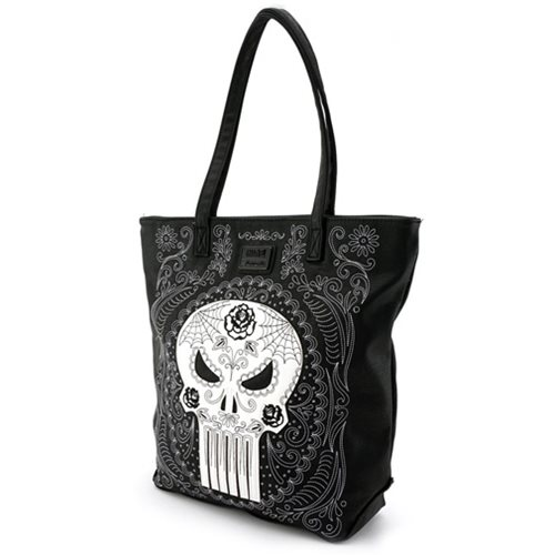 Punisher Sugar Skull Tote Purse