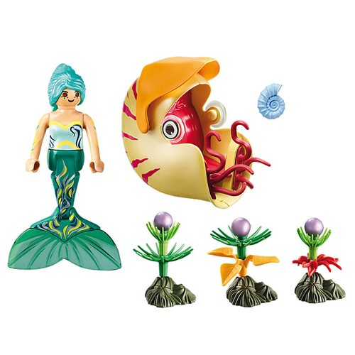 Playmobil 70098 Magical Mermaids with Sea Snail Gondola