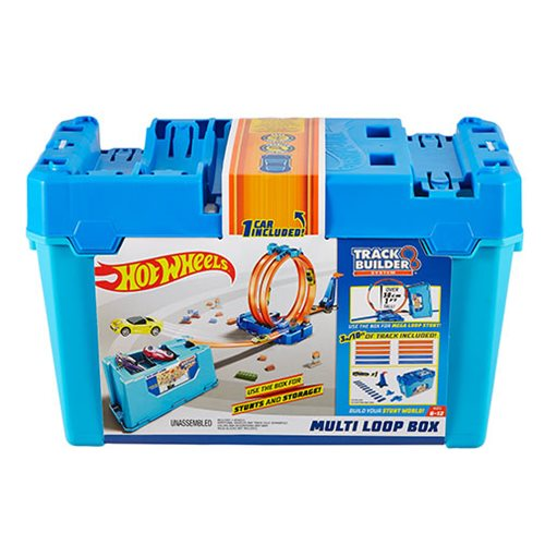 Hot Wheels Track Builder System Multi Loop Box Playset