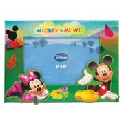 Mickey and Minnie Mouse on Hill Magnetic Photo Frame