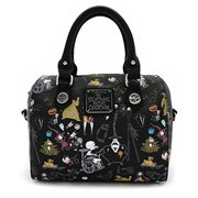Nightmare Before Christmas Character Print Saffiano Crossbody Purse