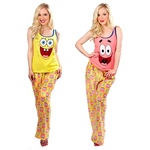 SpongeBob SquarePants and Patrick Pajama Set with Reversible Tank Top