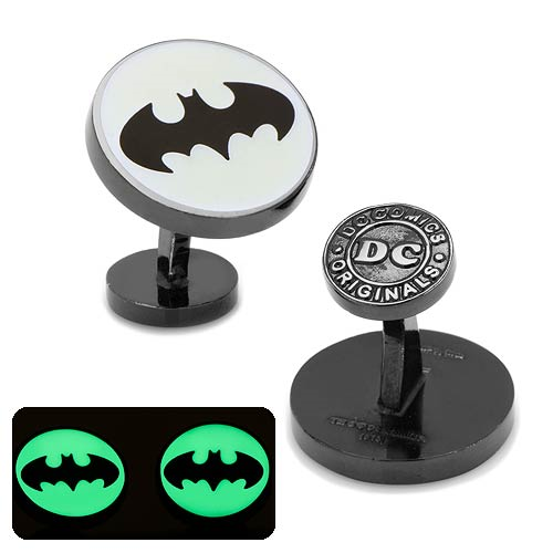 Batman Signal Glow-in-the-Dark Cufflinks