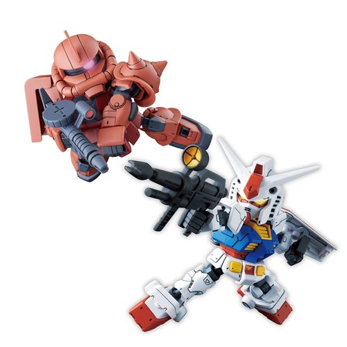 Gundam Build Divers Re:Rise RX-78-2 Gundam and MS-06S Zaku II SDCS Model Kit