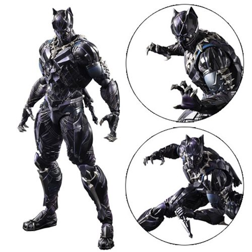 Marvel Universe Black Panther Variant Play Arts Kai Action Figure