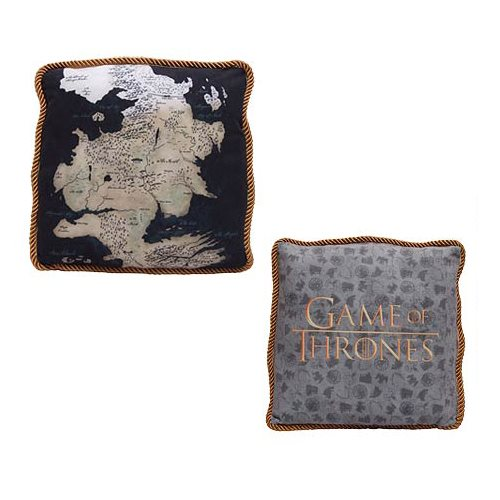 Game of Thrones Westeros Map Throw Pillow Set