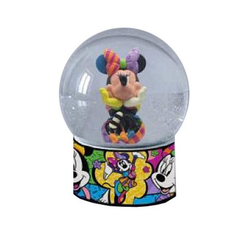 Disney Minnie Mouse Snow Globe by Romero Britto