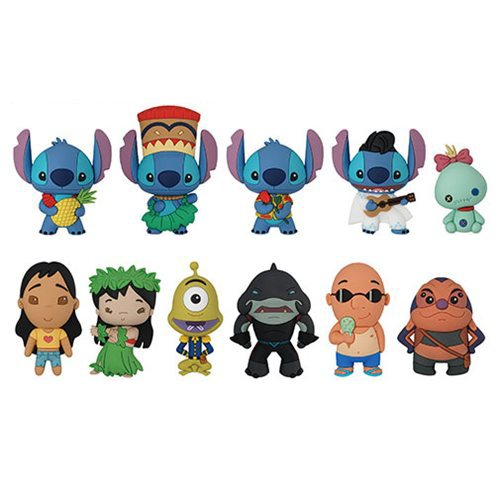 Lilo & Stitch Series 2 3D Figural Key Chain Random 6-Pack