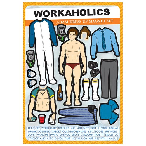 Workaholics Adam Dress-Up Magnet Set
