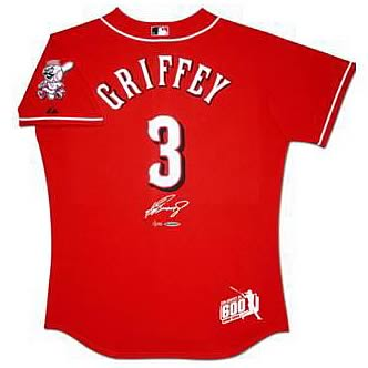new product 5226f 28dc2 Ken Griffey Jr. Signed 600 Home Runs Reds Jersey