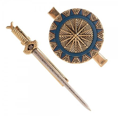 Wonder Woman Sword and Shield Hair Clip Set