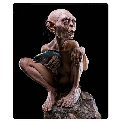 The Lord of the Rings Gollum on a Rock Life Size Statue