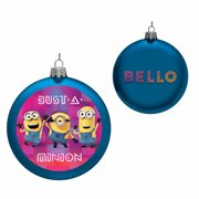 Minions 4 1/2-Inch Glass Disc Ornament