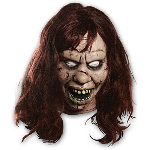 The Exorcist Regan Overhead Adult Mask with Hair