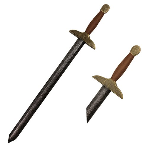 Hero's Edge Brown and Gold Chinese Foam Sword