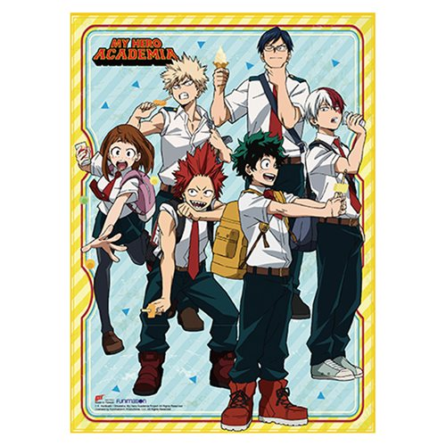 My Hero Academia S2 Ice Cream Group Wall Scroll