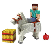 Minecraft Steve with White Horse 3-Inch Action Figure 2-Pack