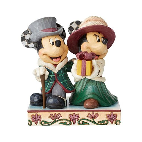 Disney Traditions Mickey and Minnie Victorian Elegant Excursion by Jim Shore Statue