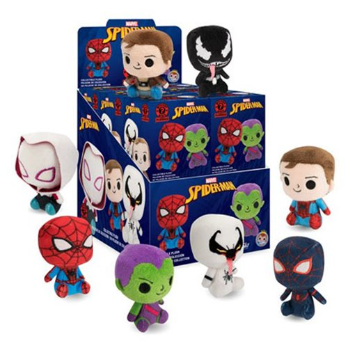 Spider-Man Mystery Mini Plush Display Case