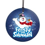 Frosty the Snowman Frosty StarFire Prints Hanging Glass Print