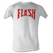 Flash Gordon Flash Front Only White T-Shirt