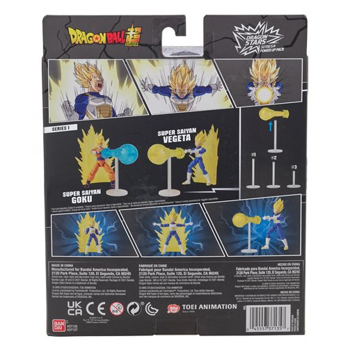Dragon Ball Super Dragon Stars Power-Up Pack Super Saiyan Vegeta Action Figure