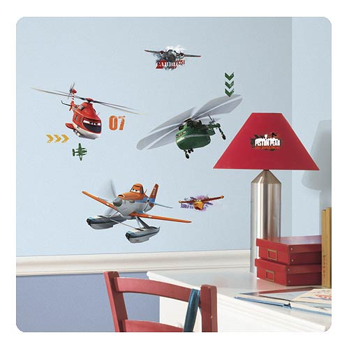 Planes Fire and Rescue Peel and Stick Wall Decals
