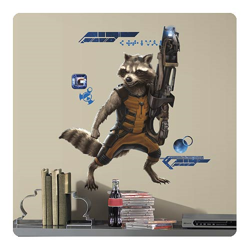 Guardians of the Galaxy Rocket Raccoon Peel and Stick Giant Wall Decals