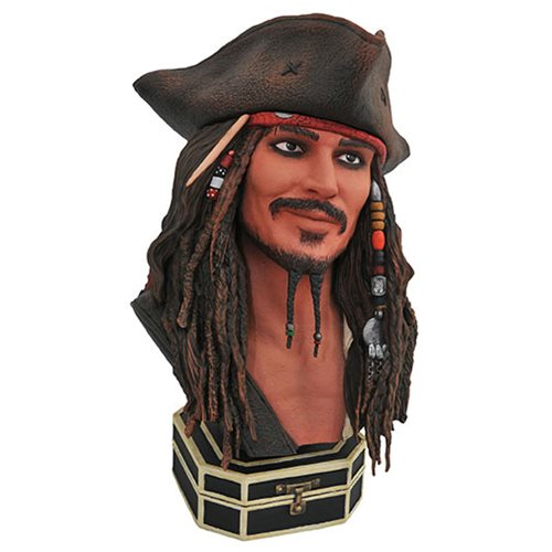 Legends in 3D Pirates of the Caribbean Jack Sparrow 1:2 Scale Resin Bust