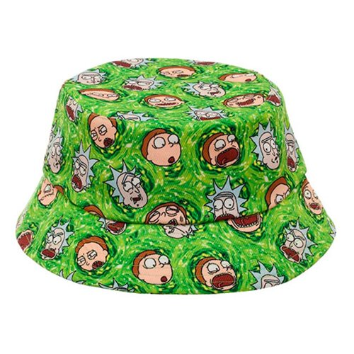 ece275778f1c7 Rick and Morty Portal All Over Print Bucket Hat - Entertainment Earth