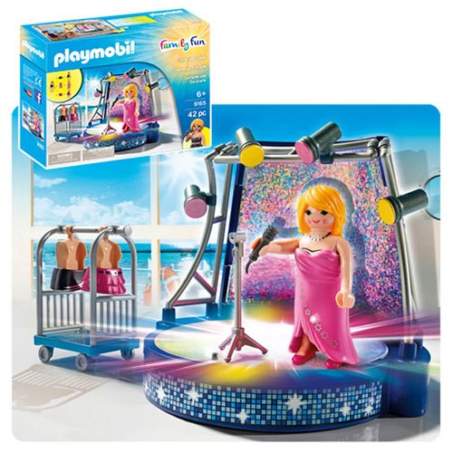Playmobil 9165 Singer with Stage Playset