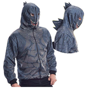 Godzilla Zip-Up Hooded Costume with Spikes