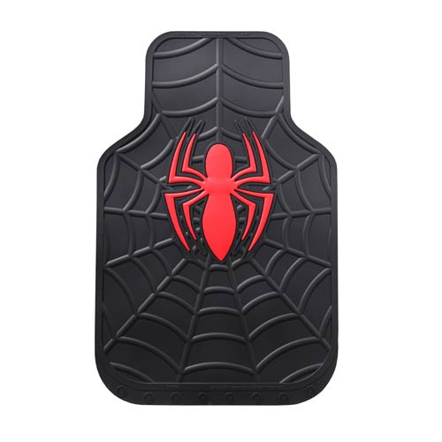 Spider-Man Marvel Black Rubber Floor Mat 2-Pack