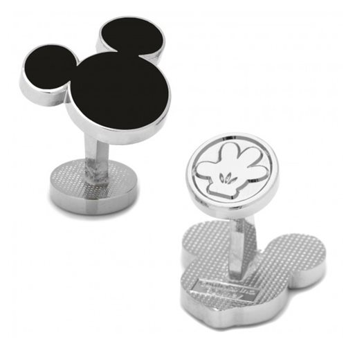 Mickey Mouse Ears Silhouette Black Cufflinks