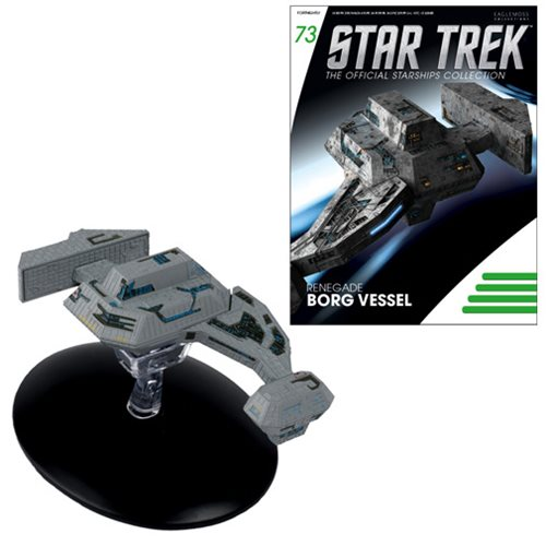 Star Trek Starships Renegade Borg Vessel Vehicle with Collector Magazine